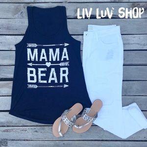 Tops - Mama Bear slouchy tank - F008